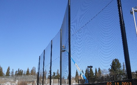 San Ramon Valley HS Baseball Field Netting - February 2013