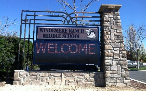 Windemere Ranch MS new marquee - completed March 2014
